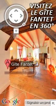 Visite virtuelle 360 du gîte de Fantet