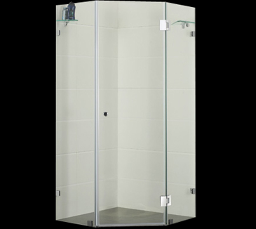PLT-2001 Diamond Frameless Shower Screen