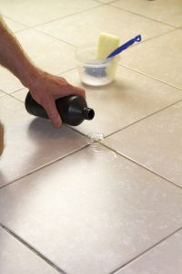 How to clean floor tile grout with hydrogen peroxide