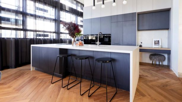 Kitchen design with their modern lighting choices