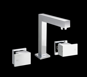 PQK90NZ04A Bathroom Square Basin Tap Set