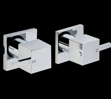 PQK90NZ02 Bathroom Square Wall Tap Set