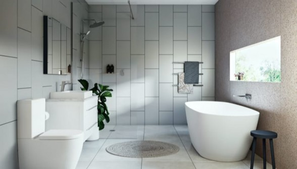Use large tiles for bathroom renovation