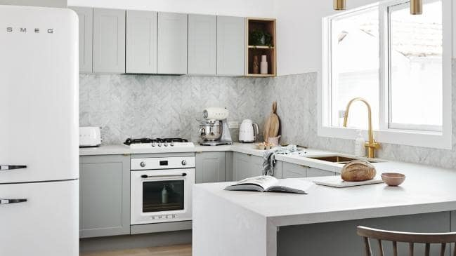 Kitchen renovations with a marble splashback