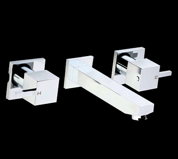 PQK90NZ01 Bathroom Square Bath Tap Set