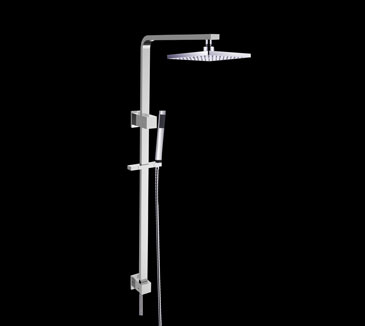 PRB1067008CP Bathroom Square Combined Shower Set