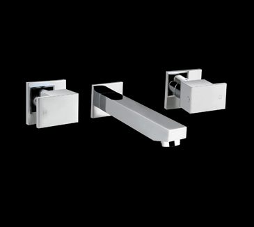 PQK90NZ01A Bathroom Square Bath Tap Set
