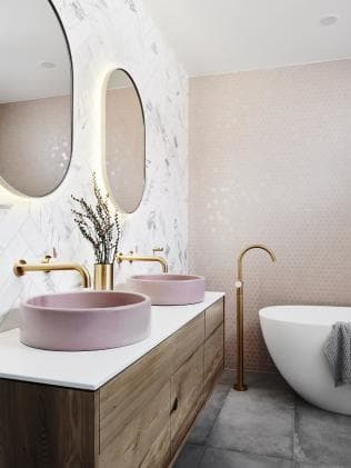 Bathroom renovation with brass theme
