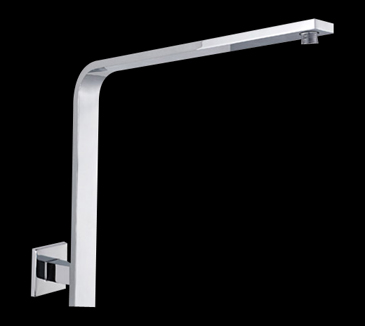 PRY030 Bathroom Square Curved Shower Arm