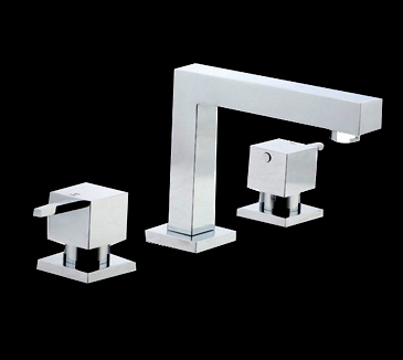 PQK90NZ04 Bathroom Square Basin Tap Set