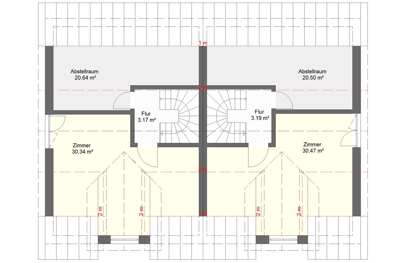 Doppelhaushälfte Variante 1 Dachgeschoss