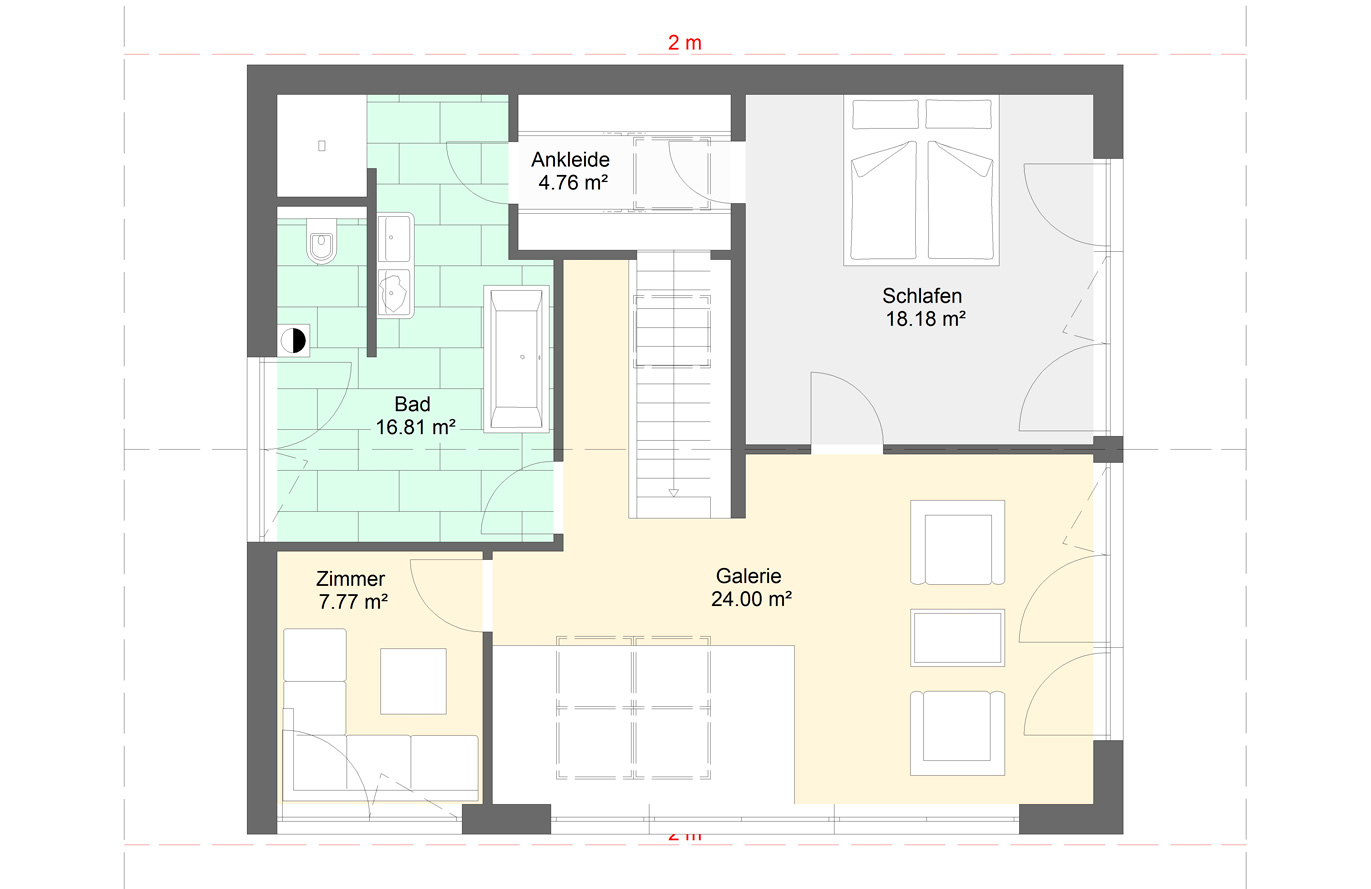 Einfamilienhaus Variante 9 Obergeschoss