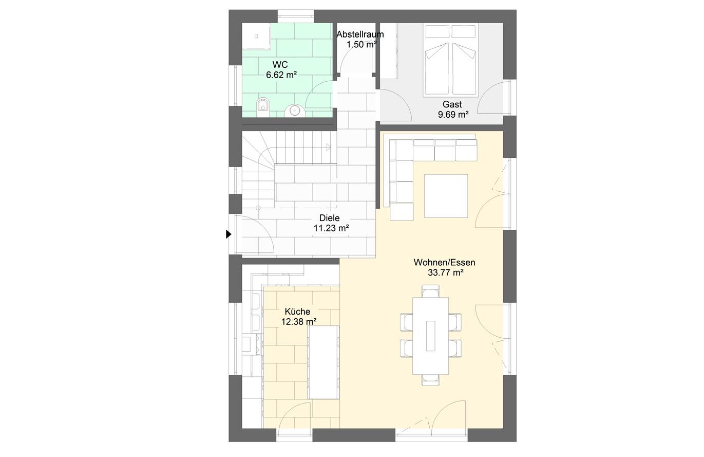 Einfamilienhaus Variante 3 Erdgeschoss