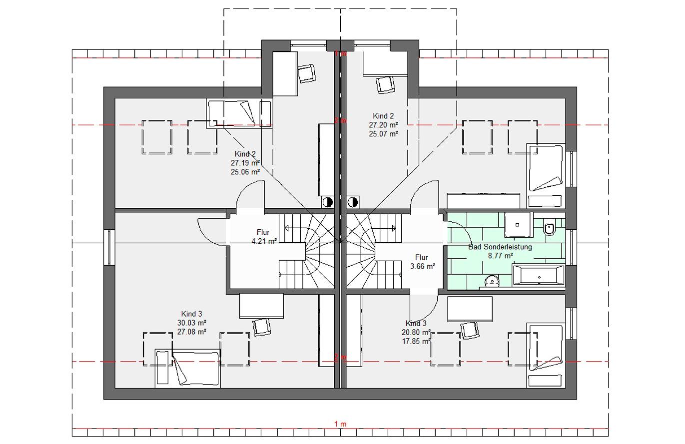 Doppelhaushälfte Variante 2 Dachgeschoss