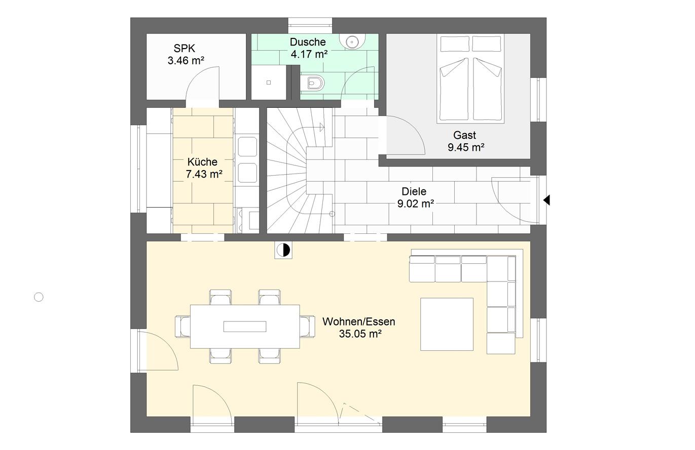 Einfamilienhaus Variante 7 Erdgeschoss