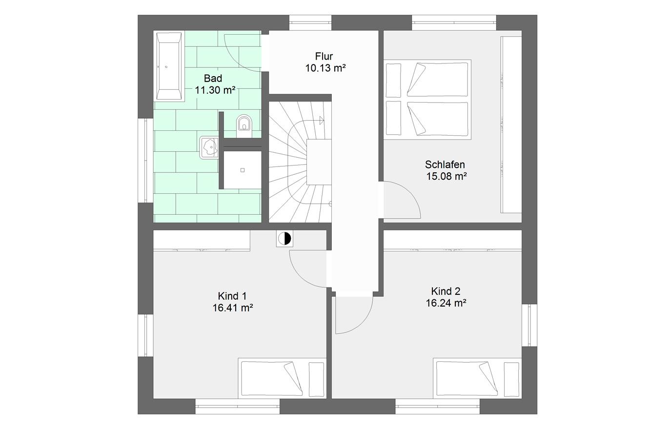 Einfamilienhaus Variante 7 Obergeschoss