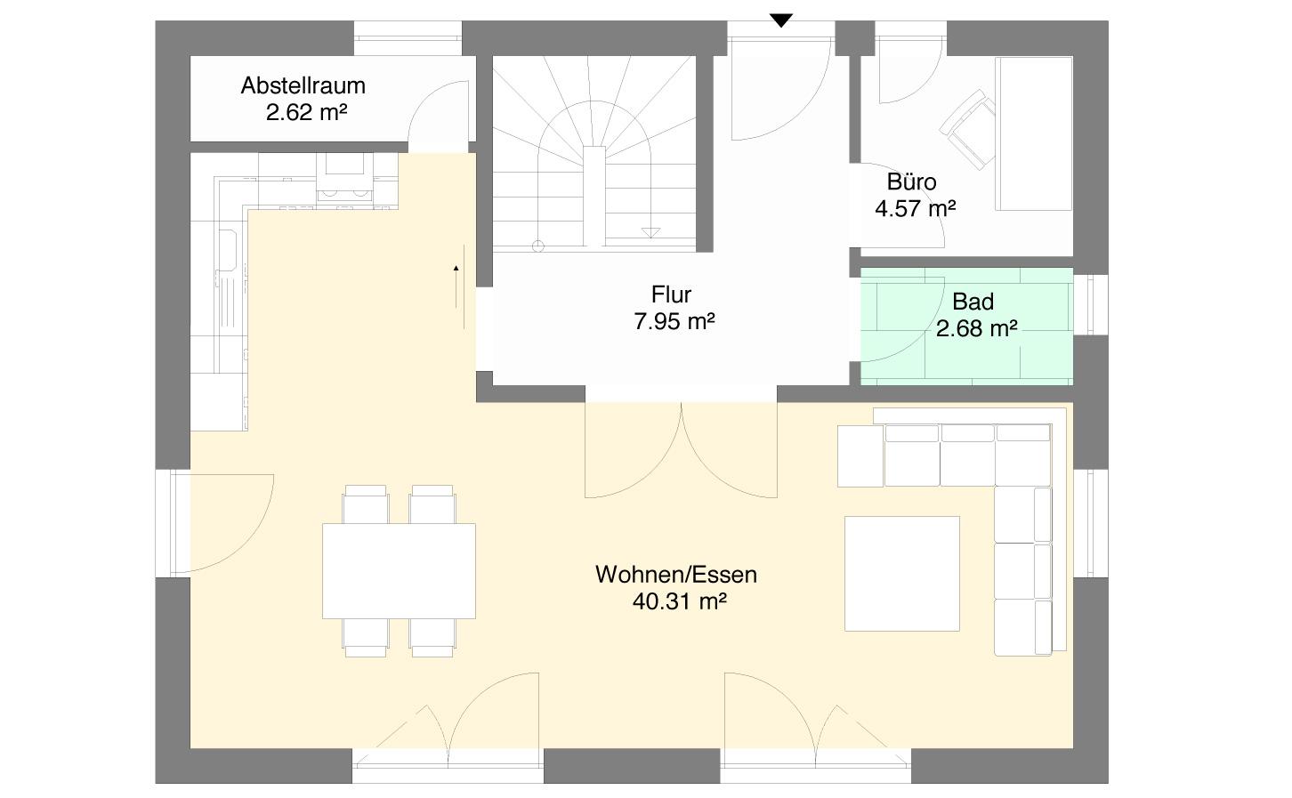 Einfamlienhaus Variante 2 Erdgeschoss