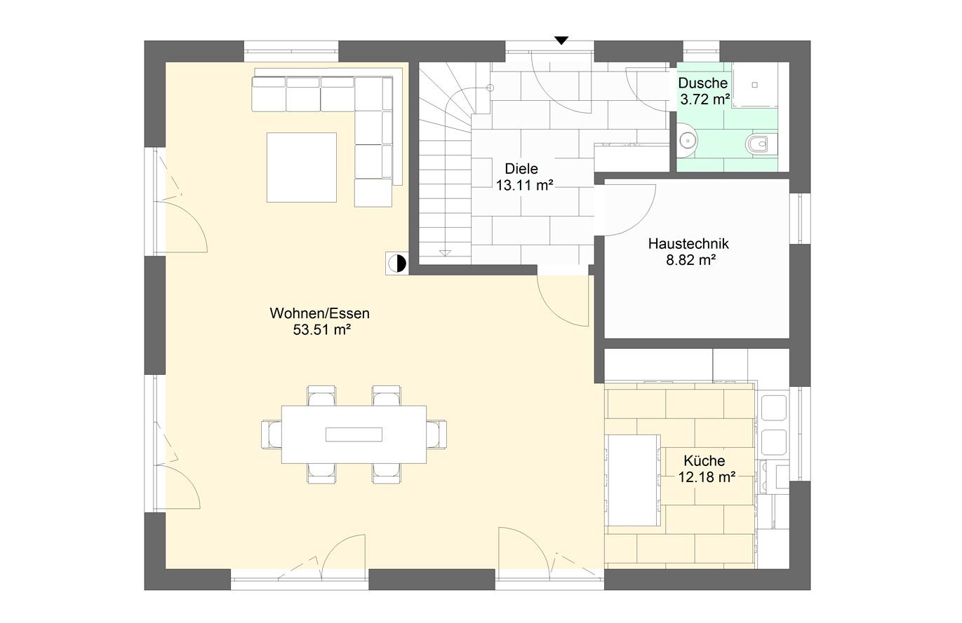 Einfamilienhaus Variante 8 Erdgeschoss