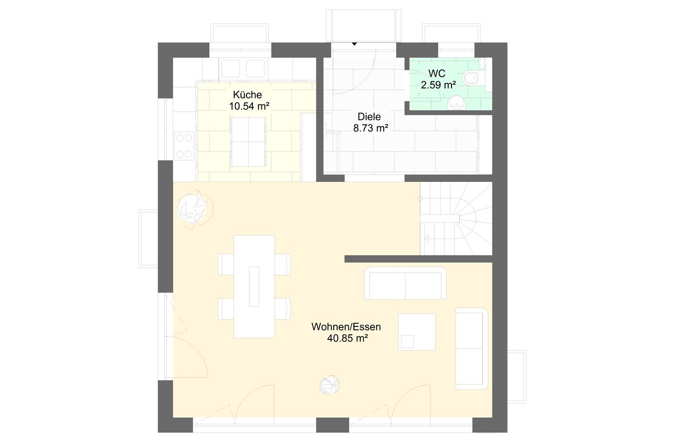 Einfamlienhaus Variante 4 Erdgeschoss
