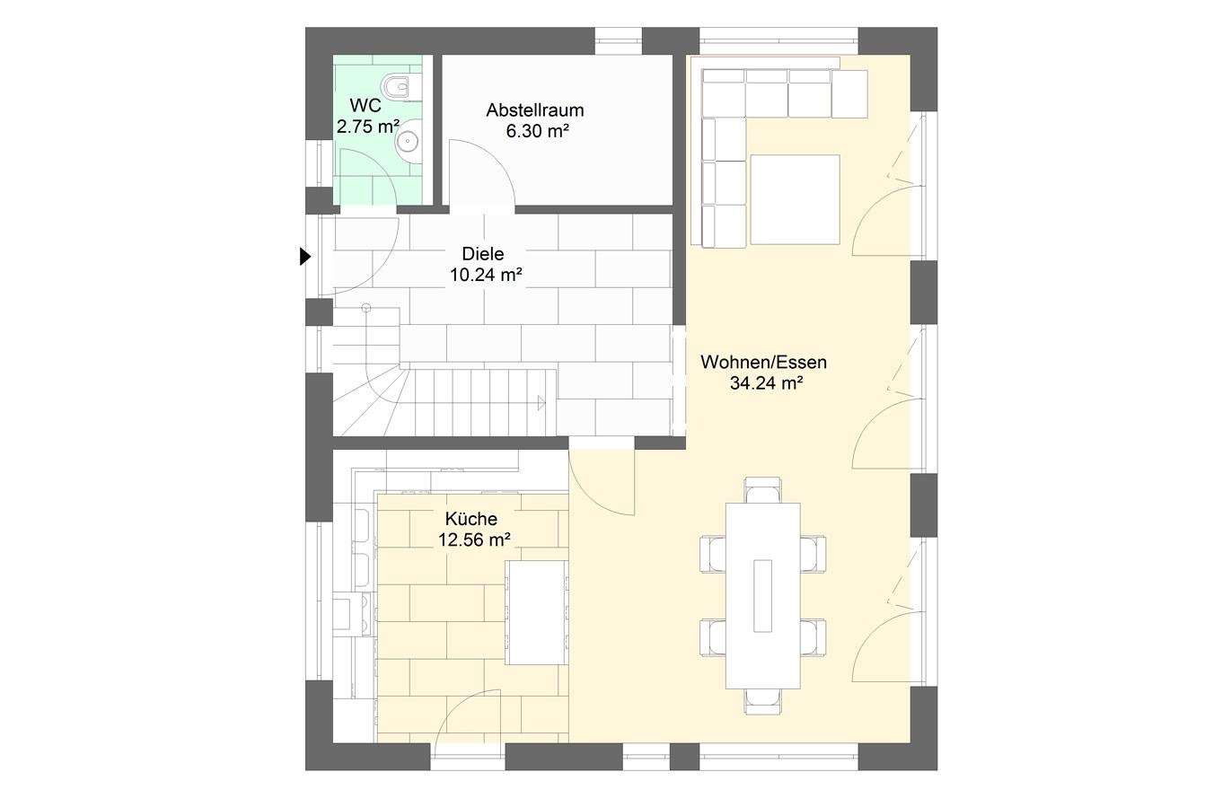 Einfamilienhaus Variante 5 Erdgeschoss
