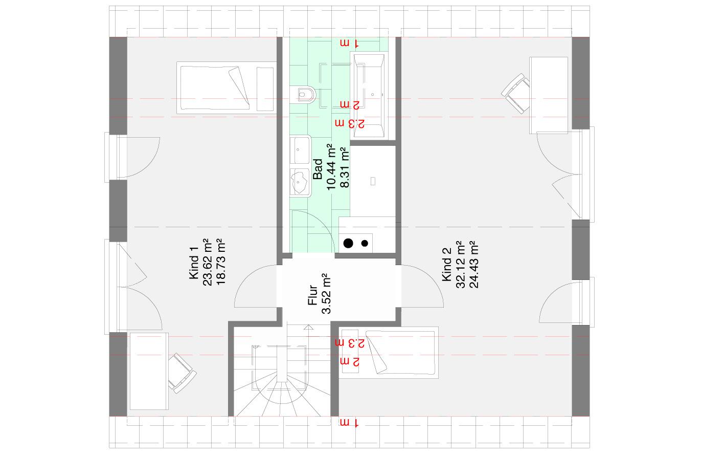 Einfamilienhaus Variante 6 Dachgeschoss