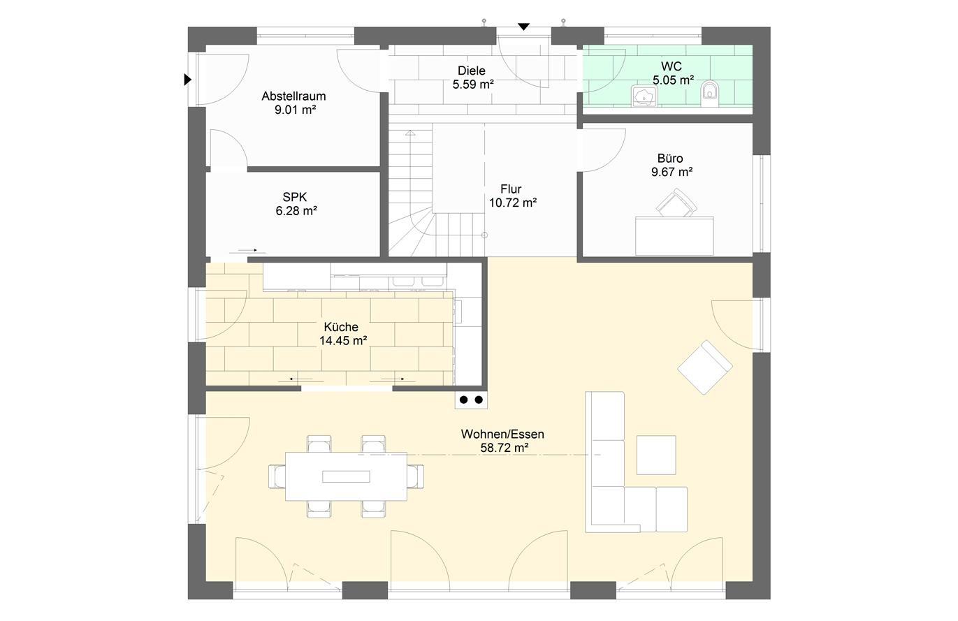 Einfamilienhaus Variante 10 Erdgeschoss