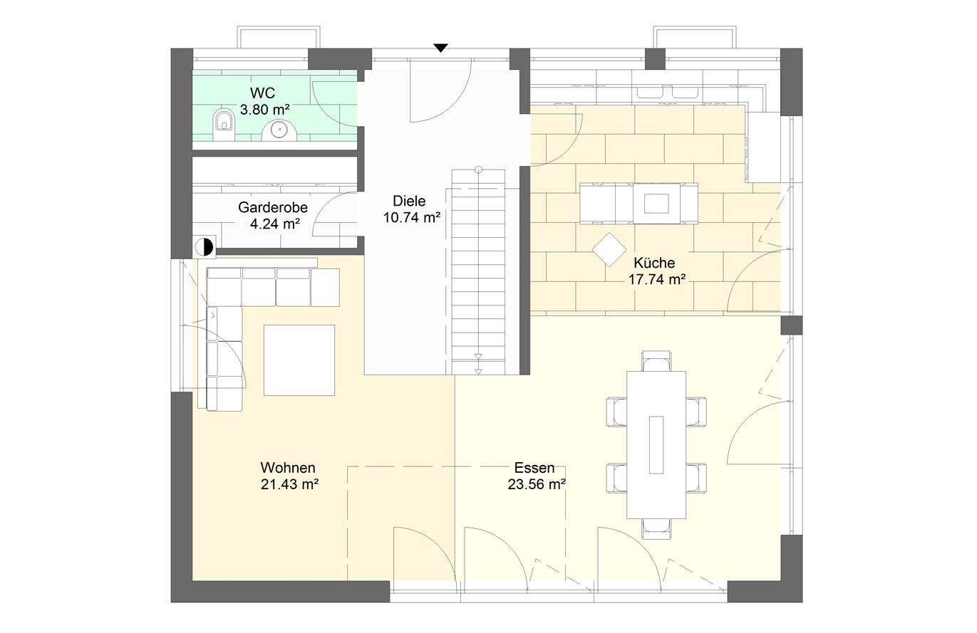 Einfamilienhaus Variante 9 Erdgeschoss
