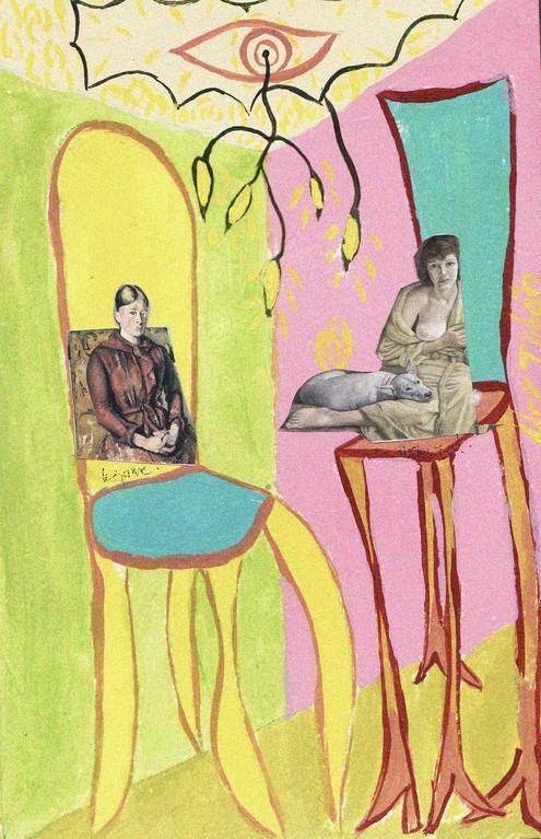 Mujer sentada IV - Serie