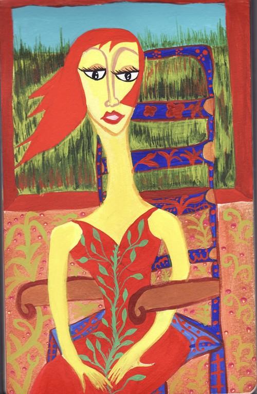 Mujer sentada V - Serie