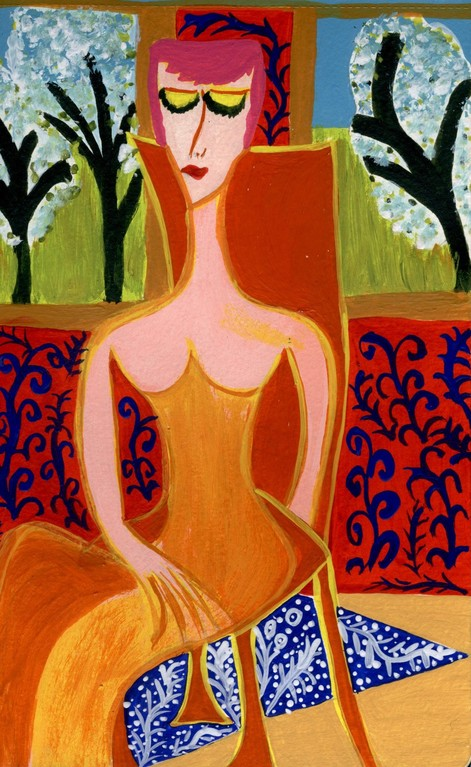 Mujer sentada I - Serie