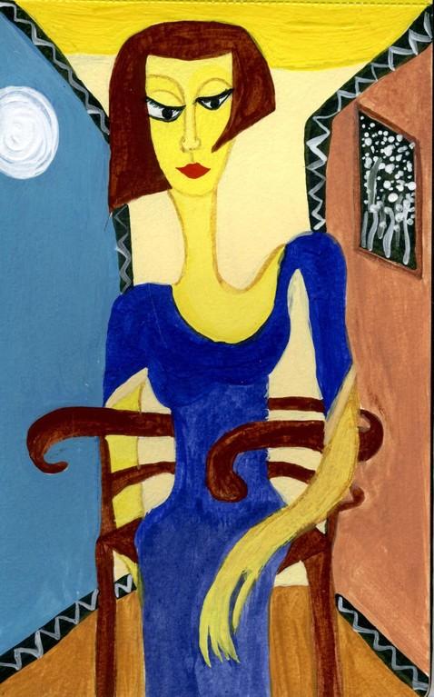 Mujer sentada II - Serie