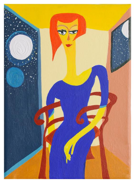 Série Femmes Assises 30x25 cm. Vendu - Sold