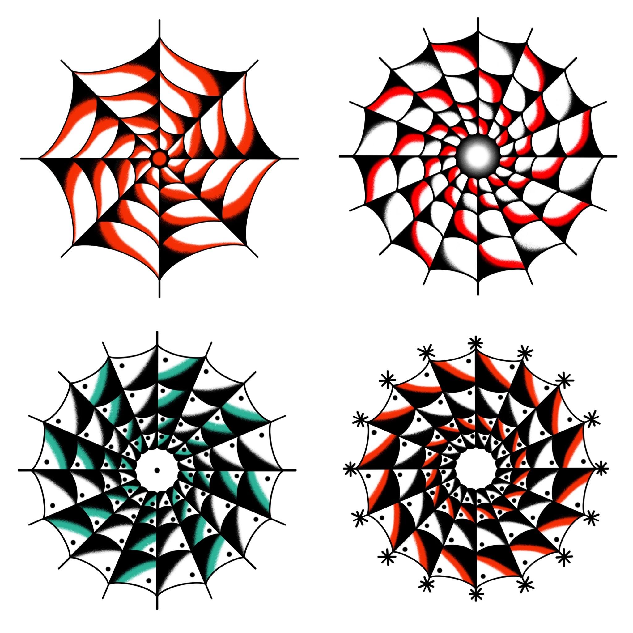 トラディショナル定番の蜘蛛の巣モチーフのデザイン タトゥーデザイン トラディショナル 《東京タトゥースタジオ》