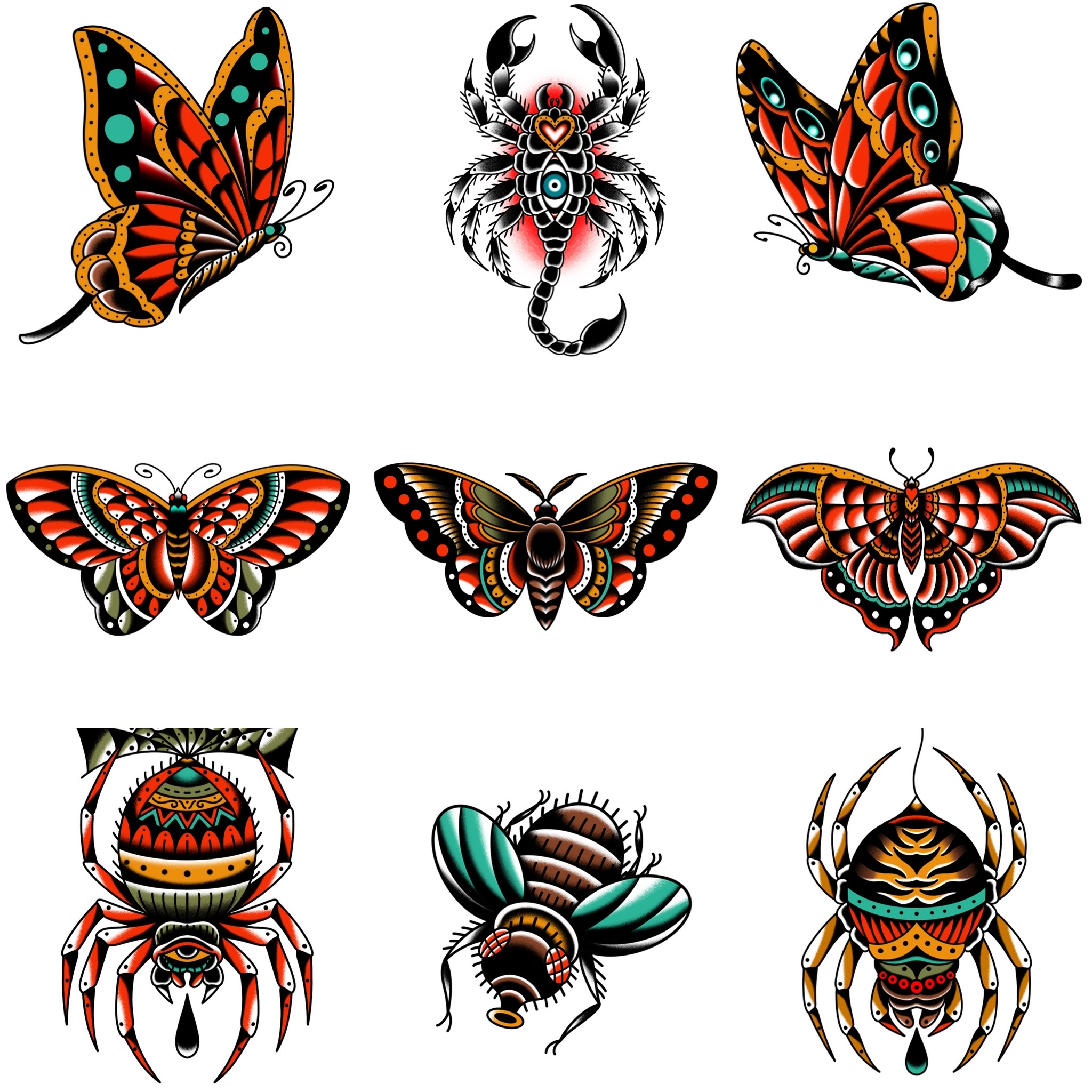 トラディショナルの昆虫デザイン タトゥーデザイン トラディショナル 《東京タトゥースタジオ》