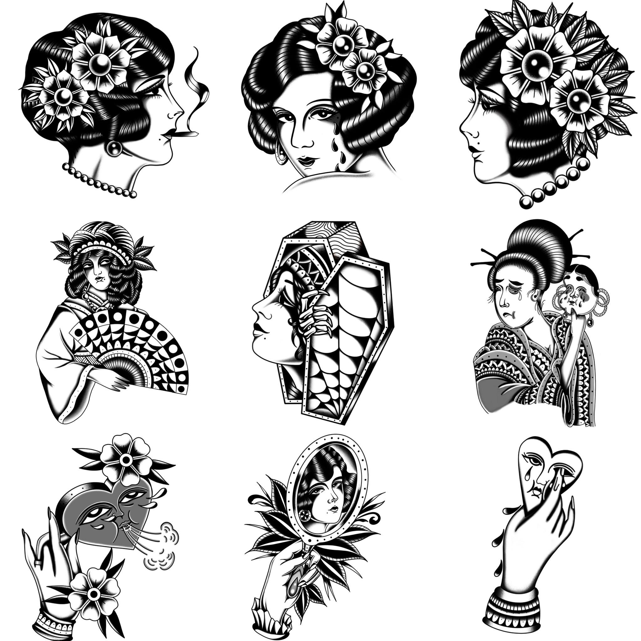 ブラックトラディショナル タトゥーを入れたいけど、デザインが決まらない方/遠方からだから通うのが大変な方/このデザイン入れたい!方にオススメ!! 《東京タトゥースタジオ》