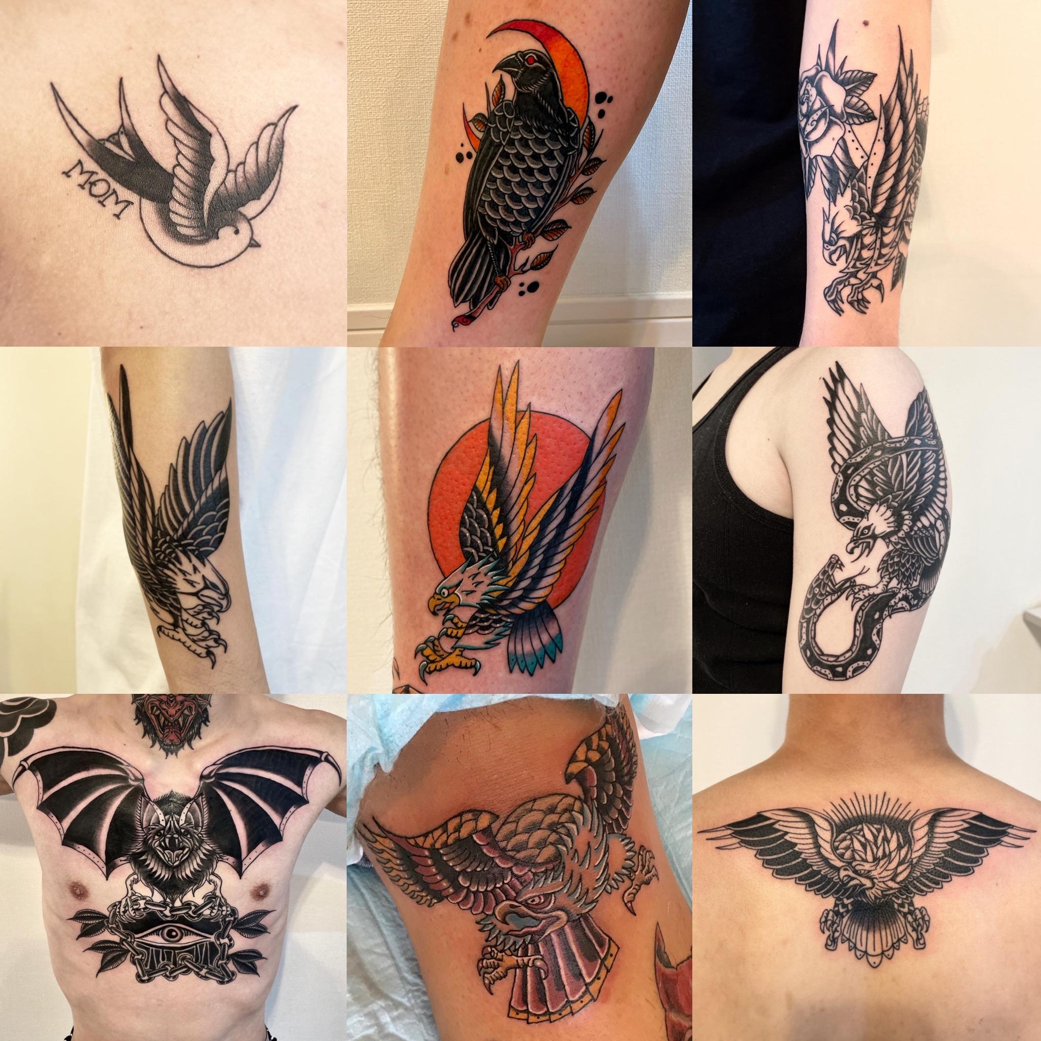 鳥類タトゥー集  《東京タトゥー》