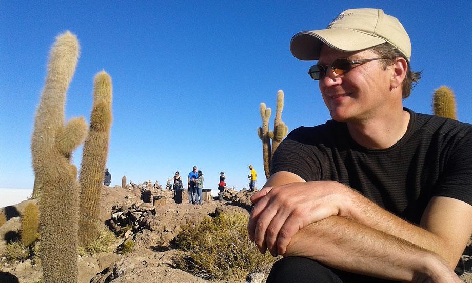 Auf der Insel Incahuasi inmitten der Salzwüste Uyuni, Bolivien (Foto Magdalena Bosak)