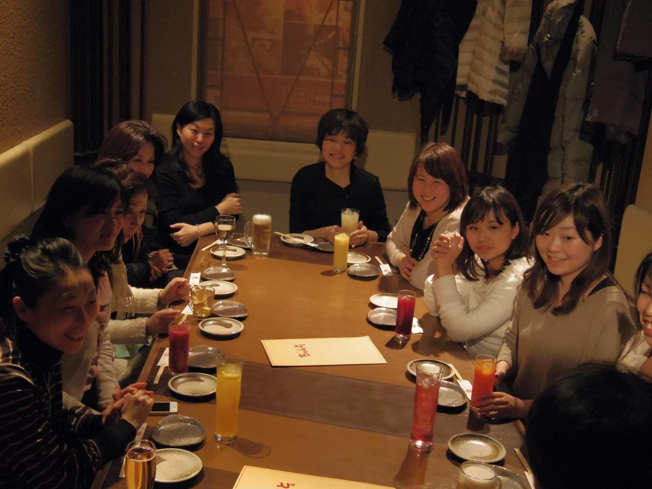 懇親会ももちろん女性の生き方について熱く語られました!