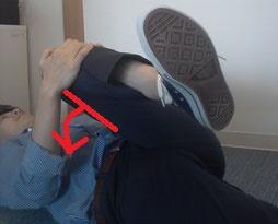 奈良県広陵町の椎間板ヘルニアで腰が曲がった男性