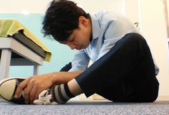腹筋で腰が痛い奈良県大和高田市の男性