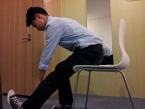 おじぎのときの腰痛改善方法