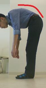前屈で腰痛が悪化した奈良県香芝市の男性