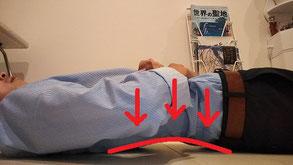 椎間板ヘルニアで仰向けに寝れない奈良県葛城市の男性