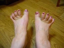 足の指の使い方