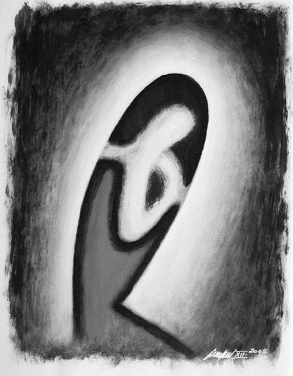 peter linden: dekor weißer nächte - dispersion auf karton  (Copyright peter linden)