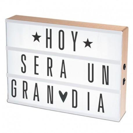 Lightbox caja de luz la tienda de menudas letras - Velas letras scrabble ...