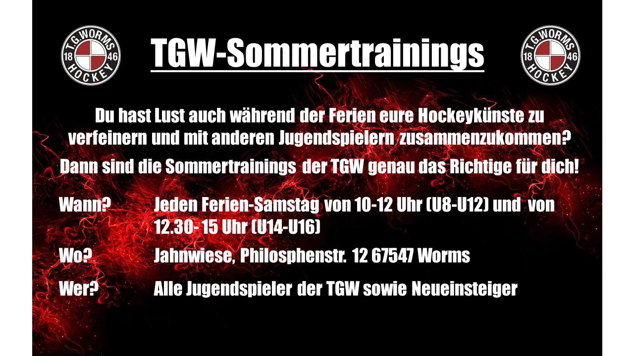 Start der TGW-Sommertrainings