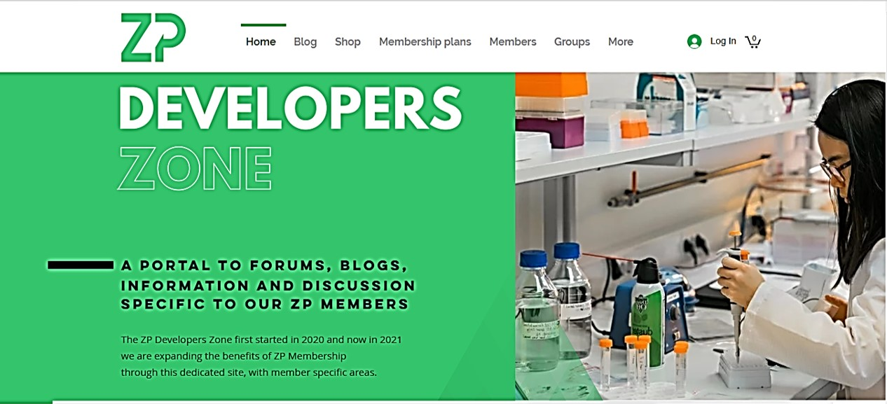 2021 new looks for ZP developers Zone Website