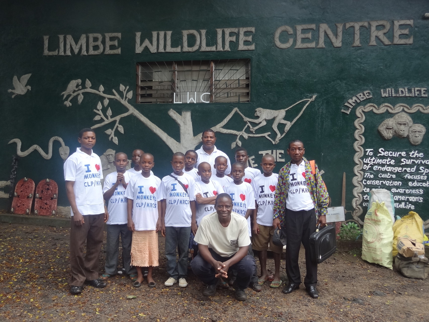 Kids excursion to Limbe Wildlife Center