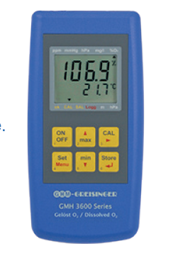Kontrolle von Tauchbecken. Automatische Luftdruckkompensation, einfache Kalibrierung in atmosphärischer Luft, integrierte Alarmfunktion.